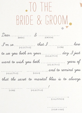 to the bride and the groom