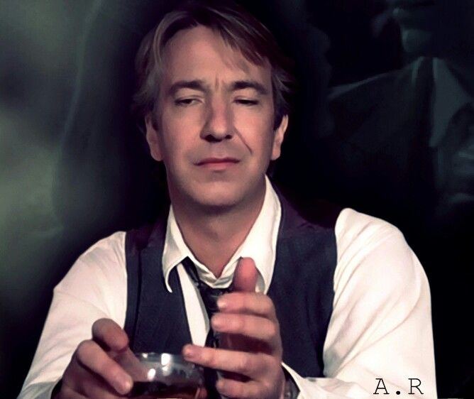 Alan Rickman. I don't care how much older he is than me, I find him sexy