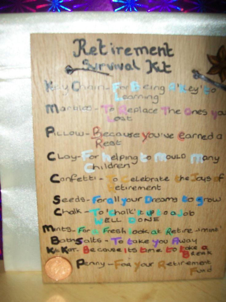 Retirement Survival Kit | Cards - Retirement | Pinterest ...