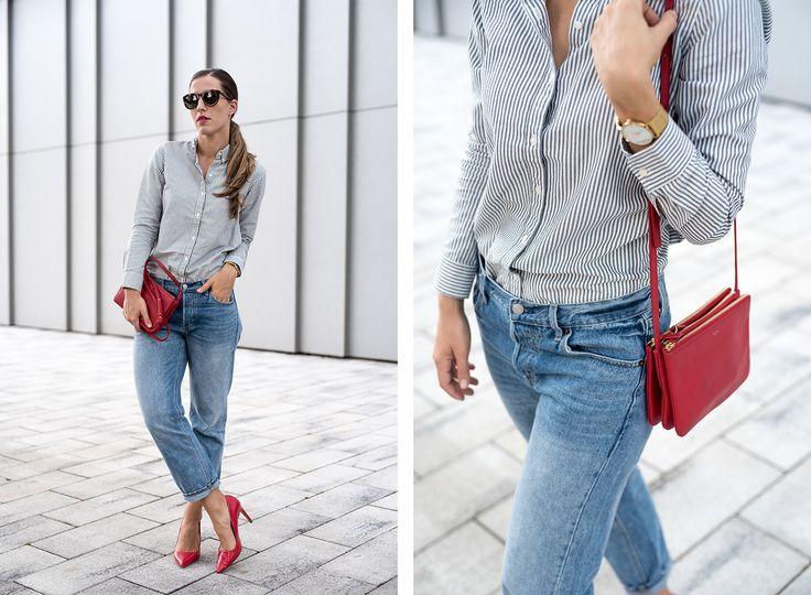 Shirt: GAP | Jeans: GAP | Bag: Céline | Sunnies: Céline | Heels: Zara | Watch: Larsson & Jennings.