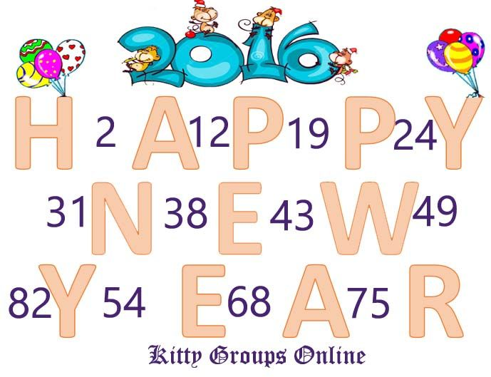 Get these amazing Happy New Year Tambola Tickets for your kitty party in the month of December or January. Happy New Year tambola tickets for kitty party.