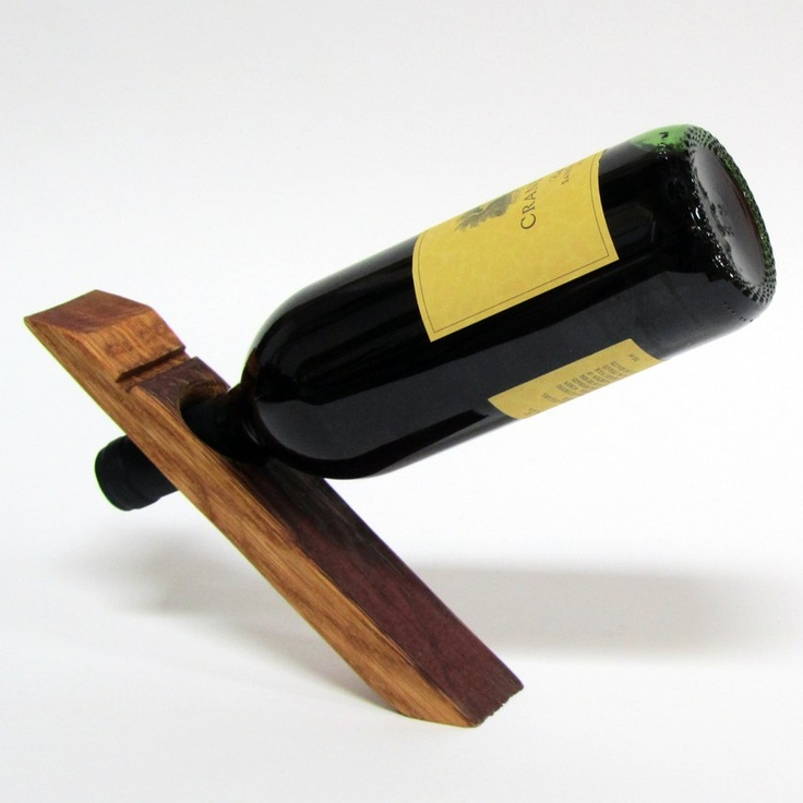 101 best wine bottle holders images on pinterest wine bottles bottle holders and wine - Wine bottle balancer plans ...