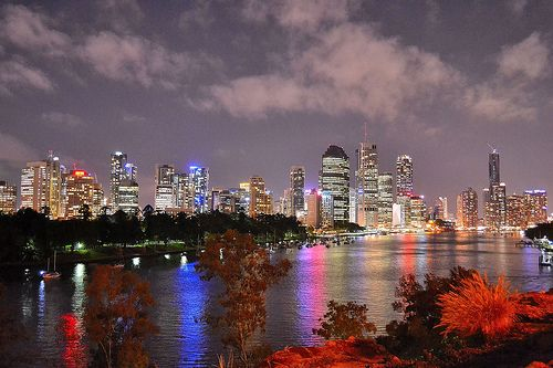 Brisbane Skyline at Night . Queensland Australia (Explore) ©