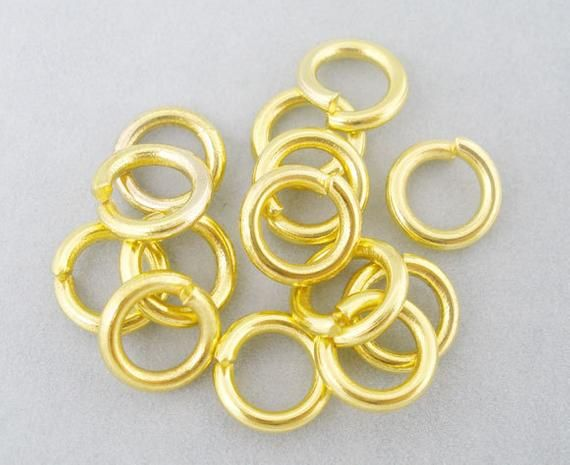 findings for jewellery making craft 100 black plated 10mm jump rings