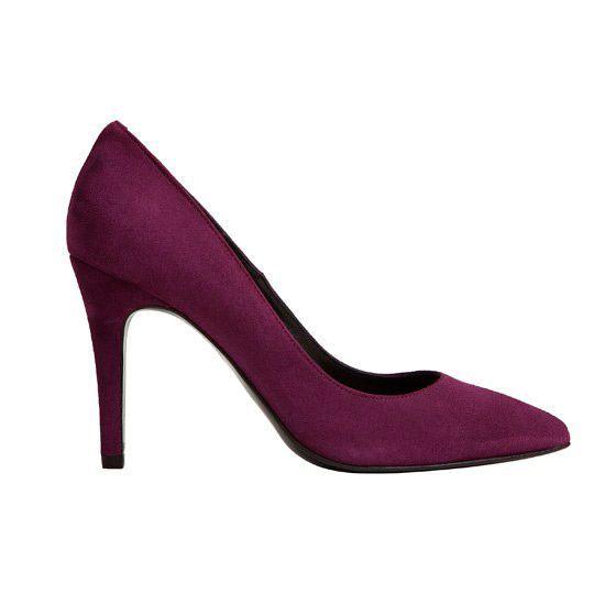 zapatos de salon burdeos de ante con tacon de 9 centimetros puntera puntiaguda para bodas eventos coctel fiestas oficina de mas34 en apparentia