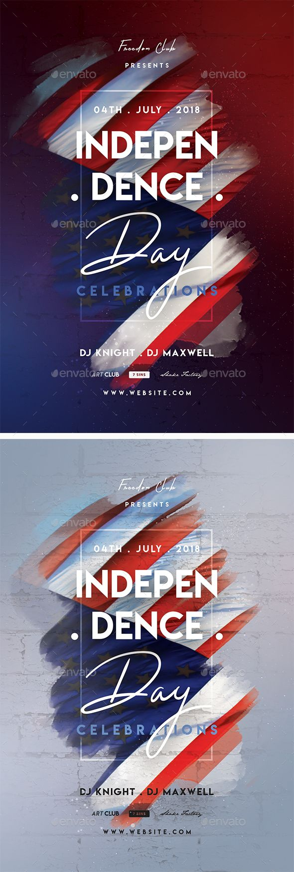 Independence Day Party Flyer Template PSD. Download here: graphicriver.net/…