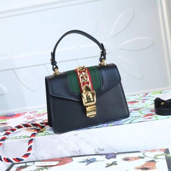 8495e3fc42ab Gucci GG Sylvie leather mini bag Tote Handbag 470270 D4ZAG 8015 ...