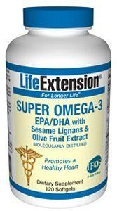 Life Extension - Super Omega-3 EPA/DHA W/Sesame Lignans & Olive Fruit Extract 120 Softgels by Life Extension. $24.00. Life Extension - Super Omega-3 EPA/DHA W/Sesame Lignans & Olive Fruit Extract 120 Softgels. Super Omega-3 Epa/Dha W/Sesame Lignans & Olive Fruit Extract, 120 Softgels Super Omega-3 EPA/DHA with Sesame Lignans & Olive Fruit Extract 120 softgels Item Catalog Number: 01482 An abundance of scientific research substantiates the wide-ranging health benefits, inclu...