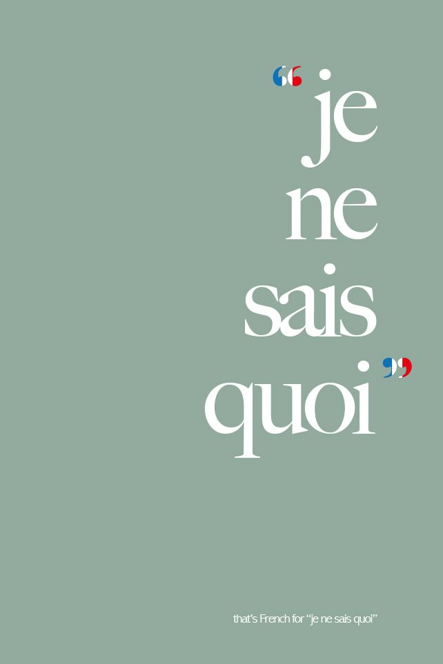 """The literal translation won't make sense. It's like *that thing* you just can't put into words // Actually, the literal translation is """"I don't know what."""" So it makes sense: """"I have a certain... je ne sais quoi."""" means """"I have a certain... I don't know what."""""""
