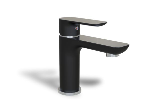 black and chrome single hole faucet - Single-hole faucets - Bathroom faucets…