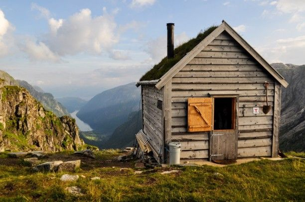The Kiellandbu cabin in the Hardangerfjord region, Norway. The cabin is a part of the Norwegian Trekking Association's cabin network, and is open for the public. Photo by Tor-Erik Sande.