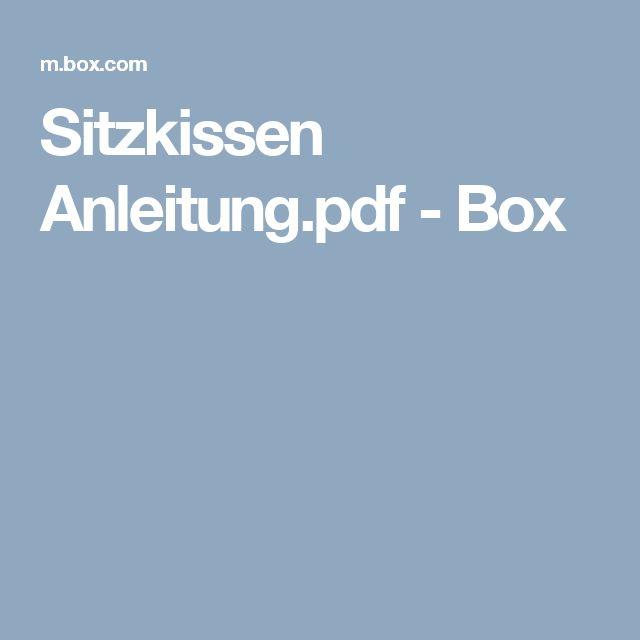 Sitzkissen Anleitung.pdf - Box