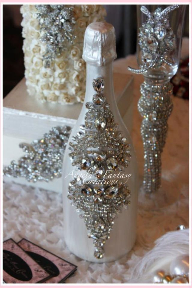 640 960 sticle de for Decorating wine bottles with glitter