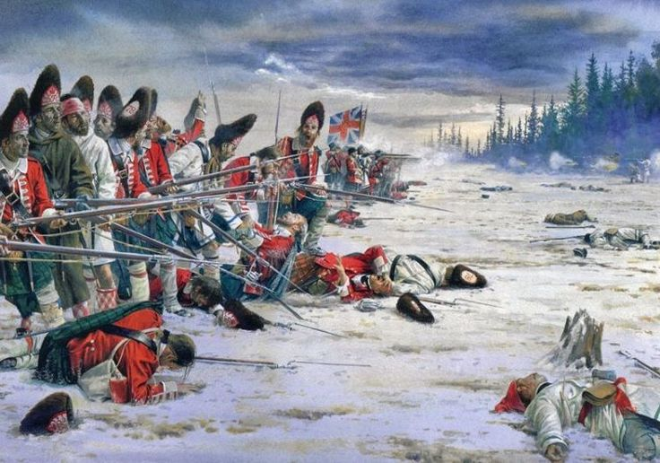 British 78th Foot Grenadiers, Battle of Sillery, Quebec, 1760