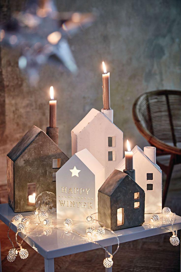 Niedliche Häuser für eine gemütliche weihnachtliche Stimmung. #XMAS #Weihnachten #Impressionenversand