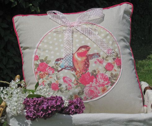 Vintage Birds Cushion