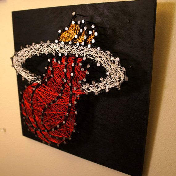 Miami Heat - Logo - String & Nail