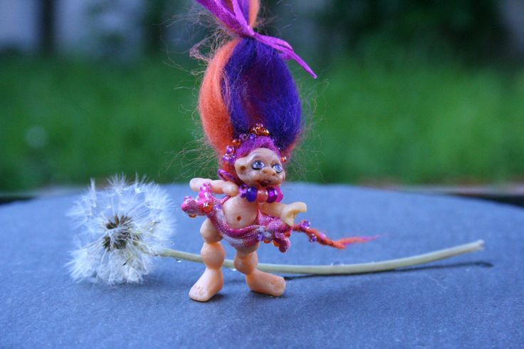 Troll - Miniature Doll - Troll Minifigure - Troll Minifigurine - Dollhouse Miniature - Collectable Figurine - 80's Collectable by BlackCatCreativeStd on Etsy https://www.etsy.com/listing/460900086/troll-miniature-doll-troll-minifigure