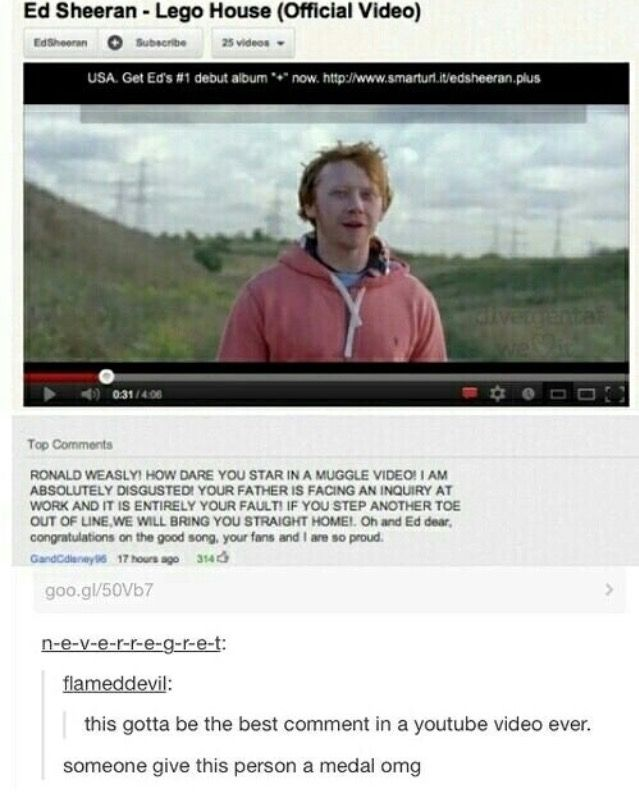 OMG LMAO I recognized Rupert Bring when I saw the video I'm so proud