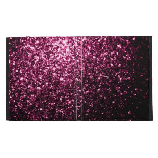 Recently Sold #Pink #sparkles #iPad Folio Case Cover by #PLdesign #PinkSparkles #SparklesGift #SparklesCase #iPadCase