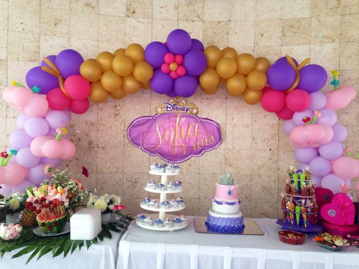 Arco de globos princesa Sofía | Balloons arch decorations | Pinterest