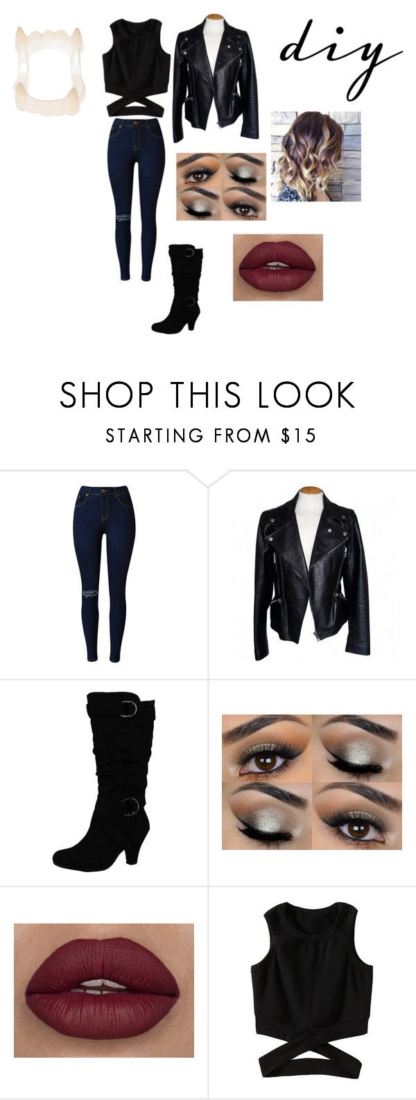 """diy vampire costume"" by allygagne ❤ liked on Polyvore featuring Alexander McQueen, halloweencostume and DIYHalloween"
