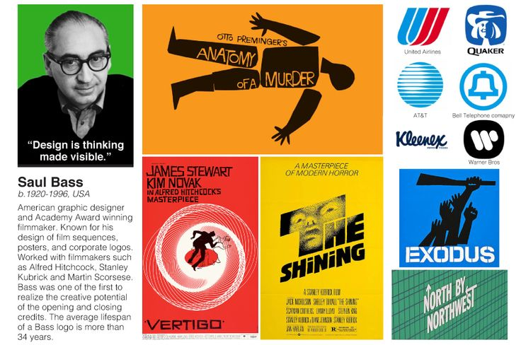Saul Bass - can be printed A4 size