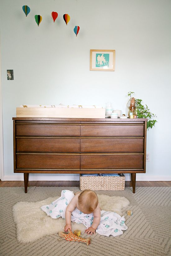 Mid Century Modern Nursery | Mid Century Changing Table