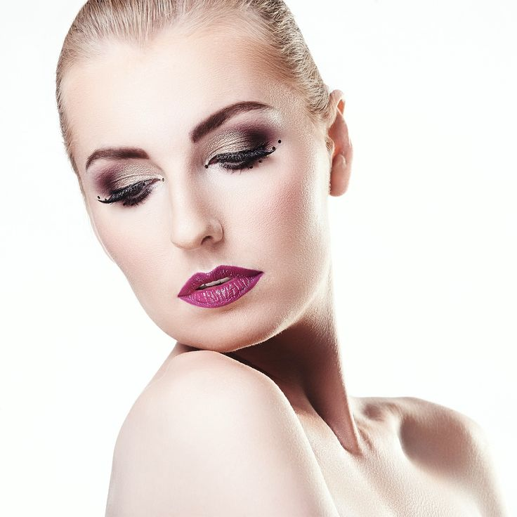 glam make-up, beauty