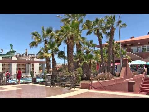 Gran Canaria 2015 Walk in Playa del Ingles beach, city, Yumbo and Cita - YouTube