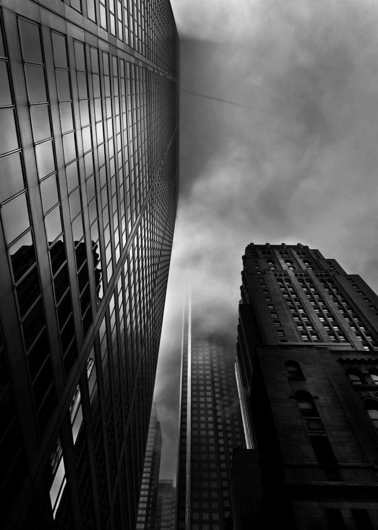 Downtown Toronto Fogfest No 4 on Hotshoe #toronto #torontophotography #blackandwhite #bnw #monochrome #photography #urbanscape