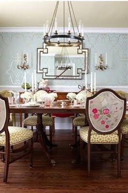 dining room from: Sarah 101: Episode 5 Jewel-Like Dining