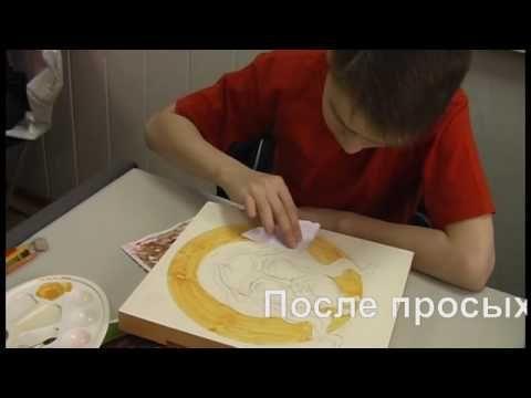 Золочение иконы - мастер-класс.mp4 - expresspaint.ru - YouTube