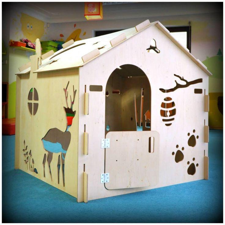 1domek fot.Karolina Bielak nasza realizacja 1domku dla przedszkola wooden house design for children plywood house for kids play house exterior interior