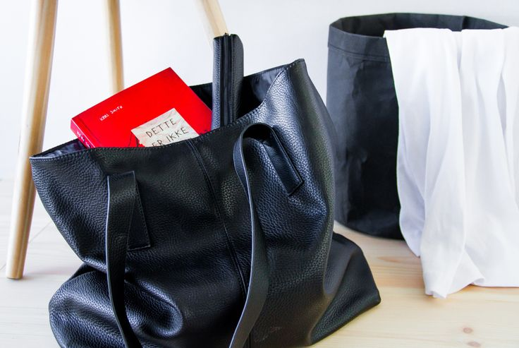 Shopper taske læderlook - BLOG Bog & idé
