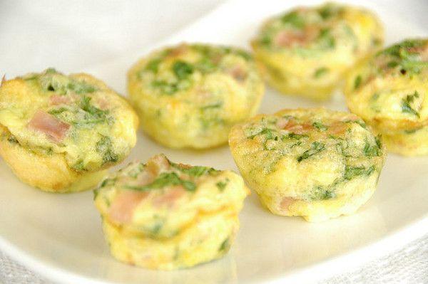 Mini omelette spinaci e cotto