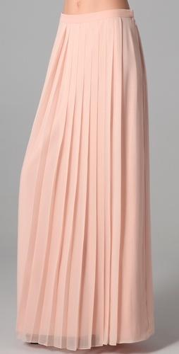 Tibi Long Silk Chiffon Pleated Skirt Style #:TIBII40237 $365.00 $255.50