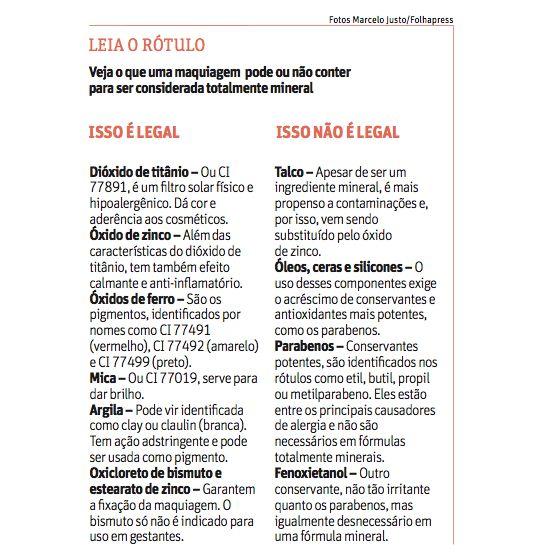 Folha.com - Equilíbrio e Saúde - Maquiagem mineral é menos agressiva; maquiadora ensina como usar produtos - 15/06/2010