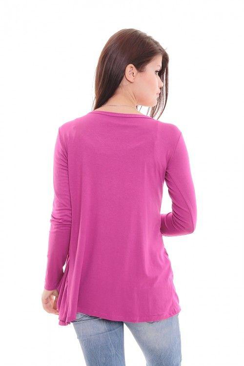 Кардиган А5777 Размеры: 44-54 Цвет: ярко-фиолетовый Цена: 300 руб.  http://optom24.ru/kardigan-a5777/  #одежда #женщинам #кардиганы #оптом24