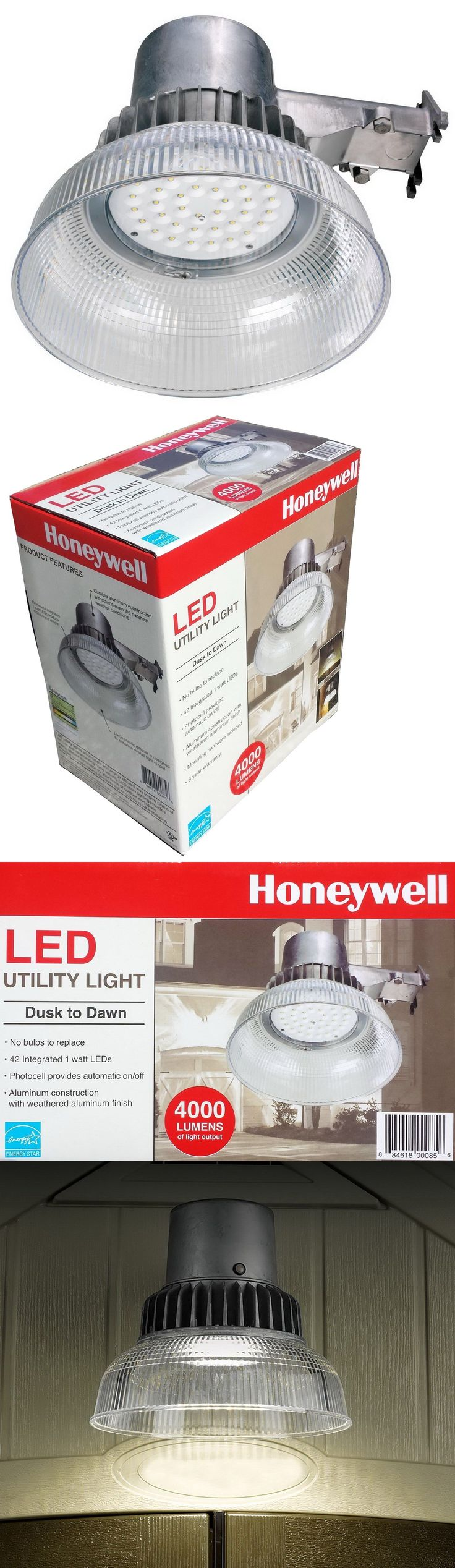 Outdoor Security and Floodlights 183393: New Honeywell Outdoor Led Security Light 4000 Lumen Dusk To Dawn Wall Lamp -> BUY IT NOW ONLY: $58.89 on eBay!