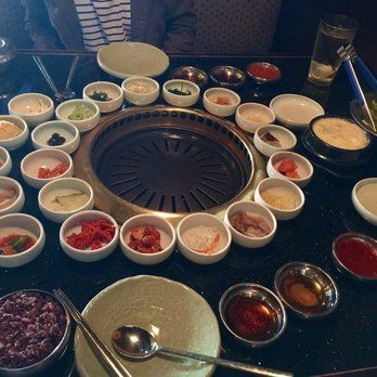 Genwa Korean BBQ - Los Angeles, CA, United States. The banchan... Everything was delicious! (Refillable)