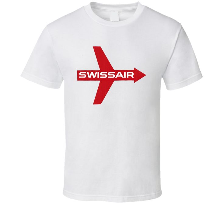 New Classic Logo Swiss Air 50's Vintage Airline T Shirt