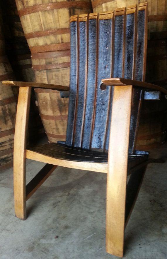 Whiskey Barrel Stave Adirondack Chair In 2018 Bourbon Furniture