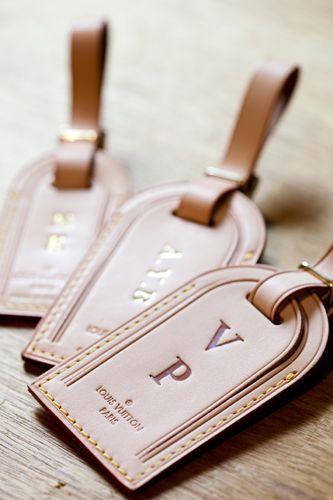 LV custom luggage tags