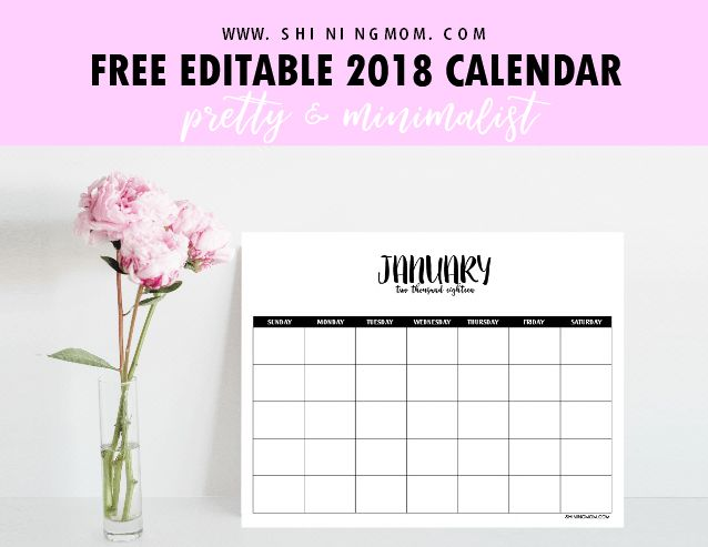 It's time to plan the year ahead! Snag a copy of this free fully editable 2018 calendar template in Microsoft Word. Yup, it can be completely customized and it's so easy to use. What ar…