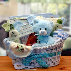 Organic - New Baby Boy Gift Basket from Baby Gifts and Gift Baskets