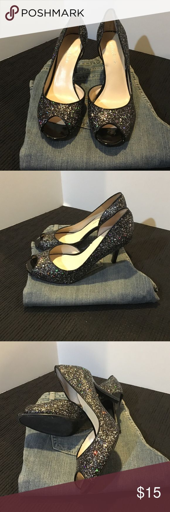 Black sandals 2 inch heel - Black With Sparkles 3 1 2 Inch Heel