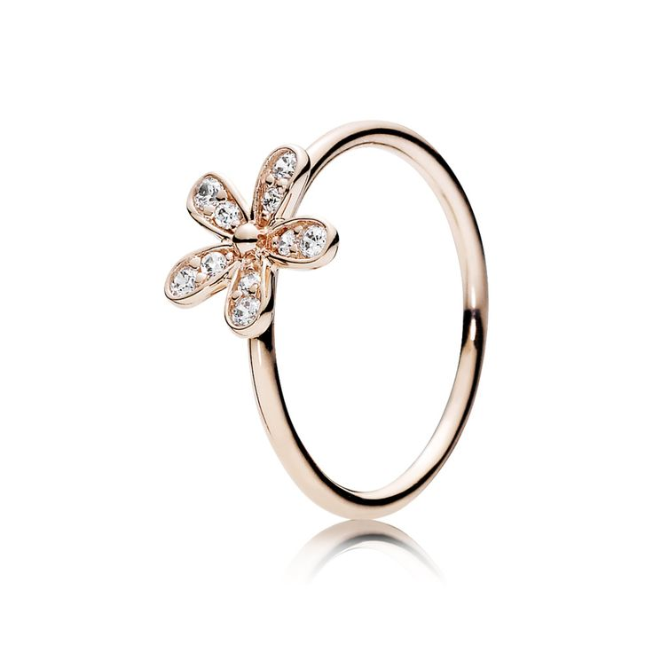 PANDORA Rose Gold Dazzling Daisy Ring | Special price: £39.98 | Buy now: http://www.pandorasale2012.com/pandora-rings-rose-gold.html