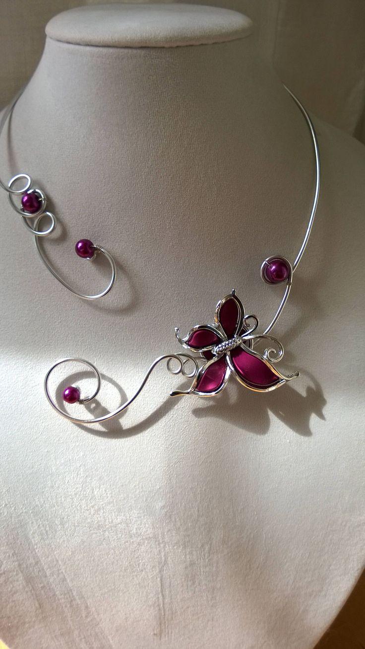 Ensemble de bijoux de mariage violet Collier pourpre   – jewelry
