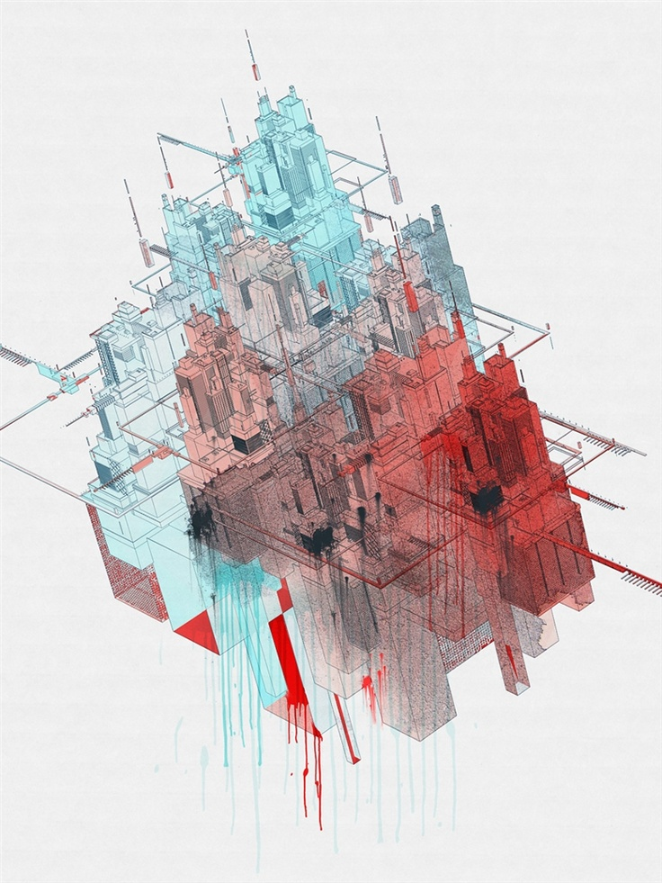 Cyber City. Vector 03. - Shelest: Quality Vector, Exclusively Art, Cyber Cities, Vector 03, Digital Art, Art Prints, Art Design, Shelest Deviantart Com, C Vladimir Shelest